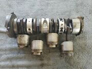 Early 80s 50 Hp Mercury Outboard Crankshaft Pistons And End Caps Assembly