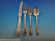 Old Mirror By Towle Sterling Silver Flatware Service For 6 Set 25 Pieces
