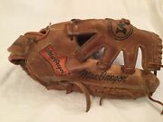 Vintage Macgregor Brown Leather Softball Glove The Athlete's Choice Ksb4