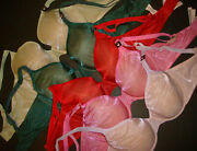 Victoriaand039s Secret 36d Bra Lot Lined Full Coverage Green Pink Red Lilac Shimmery