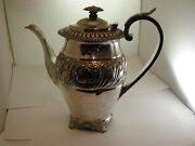 Superb Antique 1825 George Iii Solid Hallmarked Silver Hot Water Pot Very Ornate
