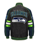 Nfl Seattle Seahawks Officially Licensed Suede Varsity Jacket 2xl
