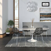 Leisuremod Asbury Modern Dining Chair Side Chair With Metal Legs Set Of 4