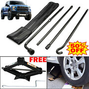 Spare Tire Tool Kit For Ford F150 2 Ton Scissor Jack Handle Lug Wrench Extension