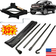 Scissor Jack 2 Ton Lug Wrench Extension Spare Tire Tool Kit For Ford F-150 04-14