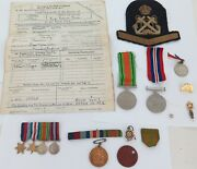 .a Good Ww2 Grouping. Mx 93271 E. F. B. Lutman Royal Navy. Medals Papers Etc.