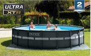 Intex 26329eh 18and039 X 52 Round Ultra Xtr Frame Pool W/ Sand Filter Pump And Ladder