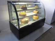 34 Wide Countertop Refrigerated Cake Showcase Arcuate Glass Back Door 220v