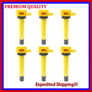 6pc High Performance Ignition Coil Jhd286y Denso 6732302 673-2302 099700-061