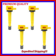 4pc High Performance Ignition Coil Jhd286y For Acura El 1.7l L4 2002 2003 2004