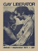 9082.decoration Poster.home Wall.room Art Design.gay Liberator Mag Cover.decor