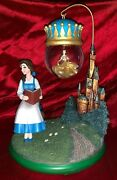 Disney Beauty And The Beast Belle Hanging Snow Globe Ornament Htf