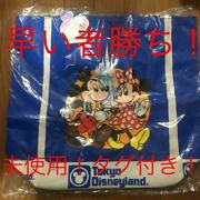 Mickey Minnie Mouse Tokyo Disneyland 25 Anniversary Tote Bag Retro With Tags F/s