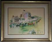 Vintage French Fauvist Raoul Dufy Epsom Horse Race Findlay Galleries Chicago Il