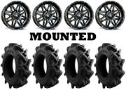 Kit 4 Efx Motohavok Tires 32x8.5-16 On Msa M26 Vibe Black Wheels Can
