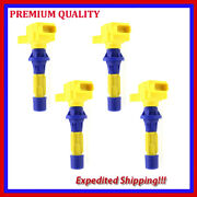 4pc High Performance Ignition Coil Jmd2873y For Mazda 6 2.3t L4 2006 2007