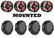 Kit 4 High Lifter Outlaw Tires 31x9.5-14/31x11-14 On Sedona Rukus Red 12mm Ter