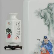 Marked Chinese Porcelain 1980-90and039s Proc Vase Artist Marked
