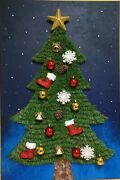 Vintage Christmas Tree Decorations Painting And The Art Bomb Hanging From Pine