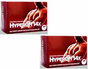 Hypergh 14x 2 Month Natural Boosts Strength From Workout Lean Rock Hard Muscles