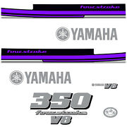 Yamaha 350 Four Stroke Die Cut Decals Outboard Engine Graphics Motor 350hp Purp