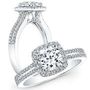 Round 1.55ct Women Real Solitaire 950 Platinum Diamond Engagement Ring Size 10
