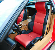 Chevy Corvette C4 Sport Type4 1984-1993 Black/red S.leather Custom Seat Cover