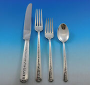 Rambler Rose By Towle Sterling Silver Flatware Set For 12 Service 59 Pcs Dinner