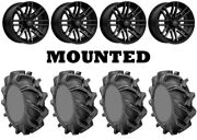 Kit 4 High Lifter Outlaw 3 Tires 31x9-16 On Msa M40 Rogue Machined Wheels Hp1k