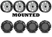Kit 4 High Lifter Outlaw2 Tires 34.5x10.5-16 On Msa M38 Brute Machined Can