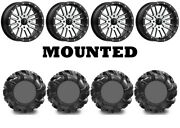 Kit 4 High Lifter Outlaw2 29.5x9.5-14 On Msa M37 Brute Beadlock Machined Hp1k