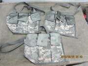 New Lot Of 3, 6 Magazine Bandoleer Pouch, Molle Ii Mags Army Acu Mag Pouch