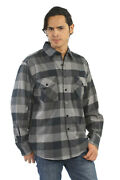 Yago Menand039s Casual Plaid Flannel Long Sleeve Button Up Shirt Grey/b4b S-5xl