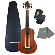 Kala Wanderer Acoustic-electric U Bass Satin Finish With Tuner And Cloth