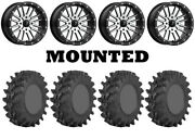 Kit 4 Sti Outback Max Tires 30x9.5-14 On Msa M37 Brute Beadlock Machined Can