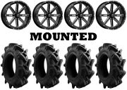 Kit 4 Efx Motohavok Tires 32x8.5-16 On Msa M41 Boxer Gloss Black Wheels Fxt