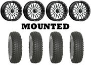 Kit 4 System 3 Xcr350 Tires 36x10-18 On Msa M37 Brute Beadlock Machined Can