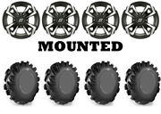 Kit 4 High Lifter Outlaw Tires 29.5x10-12 On Sedona Riot Machined Wheels Pol