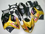 Gold Black Abs Injection Fairing Kit Fit For 2008-2016 Gsxr1300 Hayabusa Gen 2