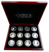 Proof Fantasy Coins Of The Most Sought After Us Silver Dollars 12 Oz - Bnkr
