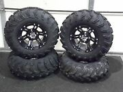 Honda Pioneer 700 25 Itp Mud Lite Atv Tire And Itp Ss212 Black Wheel Kit Irsl5