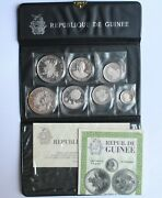 Guinea 100, 200, 250, 500 Francs 1969, Proof, 10th Anniversary - Independence