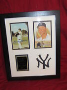 Mickey Mantle Matted And Framed Replica Autograph Photos 11x14 Swing Pose