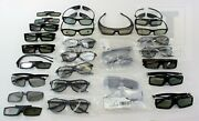 Lot Of 28 3d Glasses Various Brands New And Used Condition