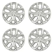 New Wheel Skins Covers Fits 2015-2018 Jeep Renegade 17 Chrome Plated Set Of 4
