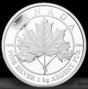 2012 Canada Maple Leaf Forever Proof Silver Kilo Coin .9999 Pure