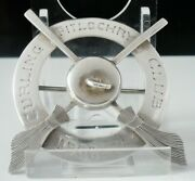 Rare Sterling Silver Curling Badge, Pitlochry Curling Club 1906/07