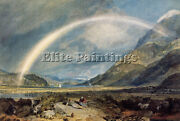 Turner Castle Cruchan Ben Mountains Scotland Noon Artist Painting Canvas Repro