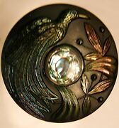 Extremely Rare...bird Of Paradise Carnival Glass Hatpin...perfect Condition