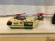 2001 Hess Toy Helicopter With Truck And Motorcycle